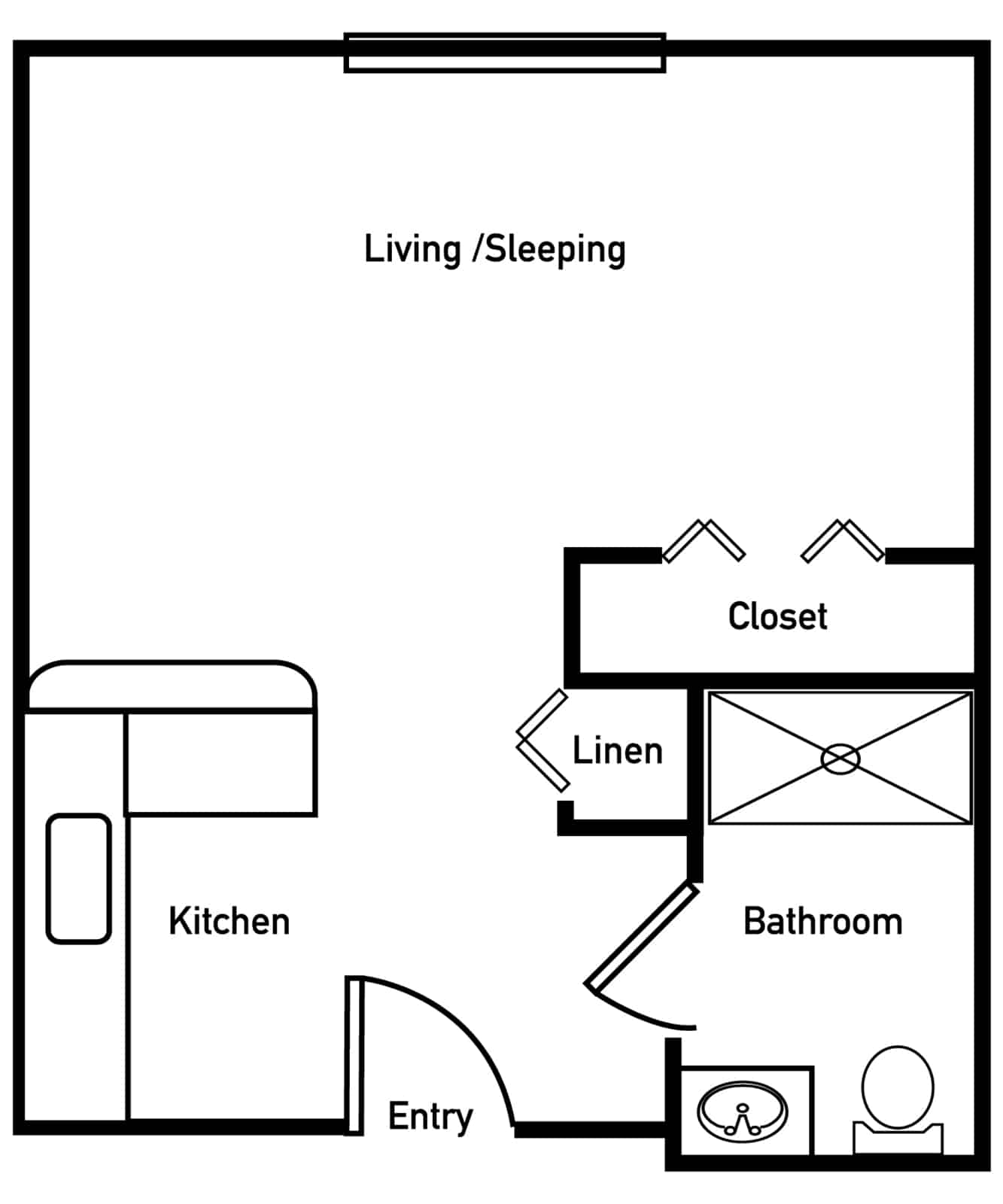 Azalea Studio Floor Plan