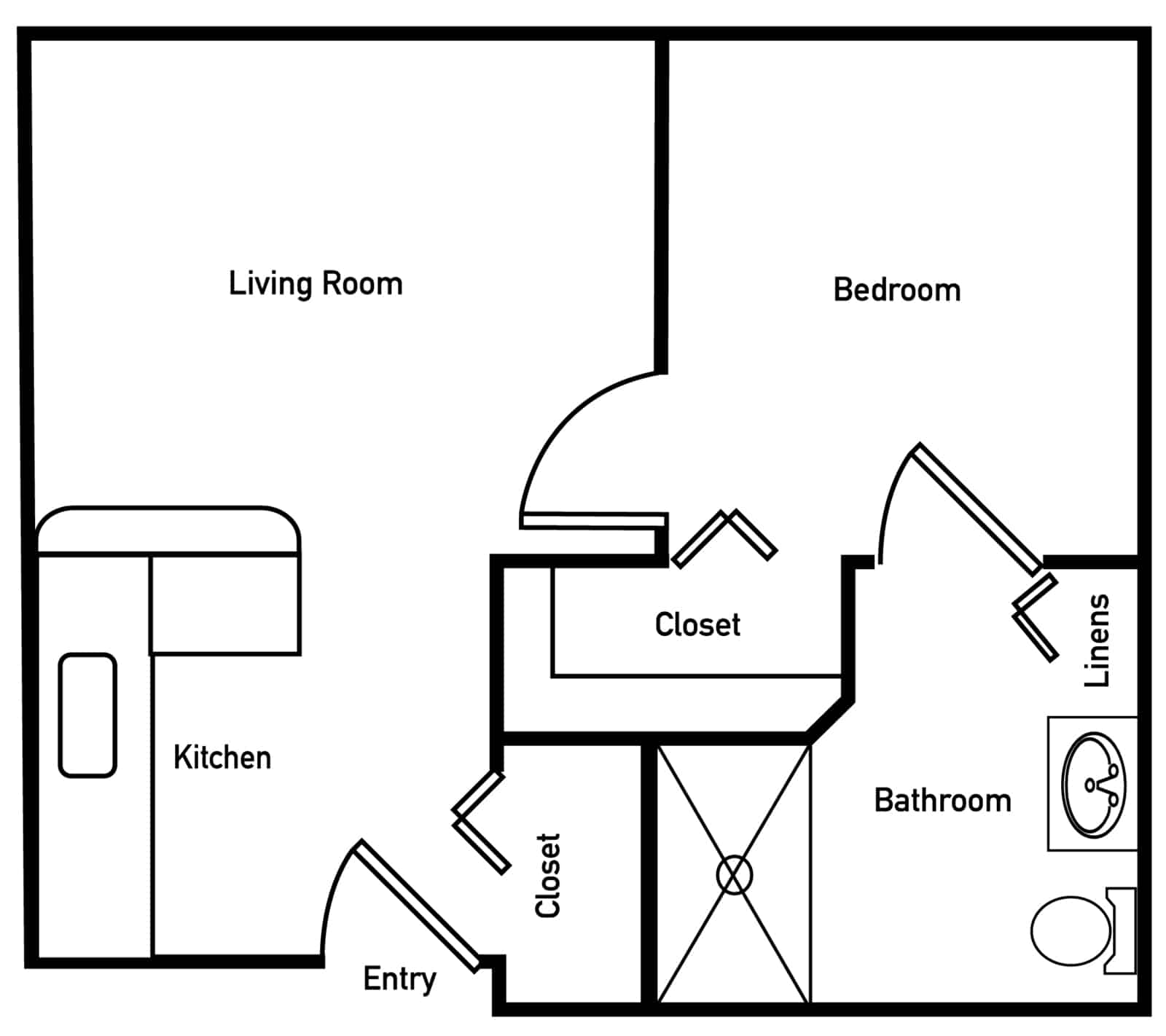 Magnolia One Bedroom Floor Plan