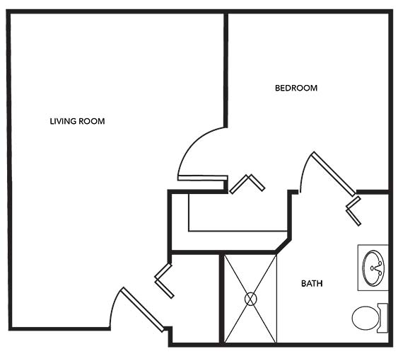Sand Castle One-Bedroom Apartment - 401 sq. ft.